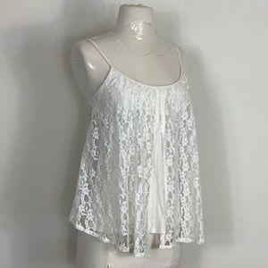 Billabong S cream lace Cami Trapeze top